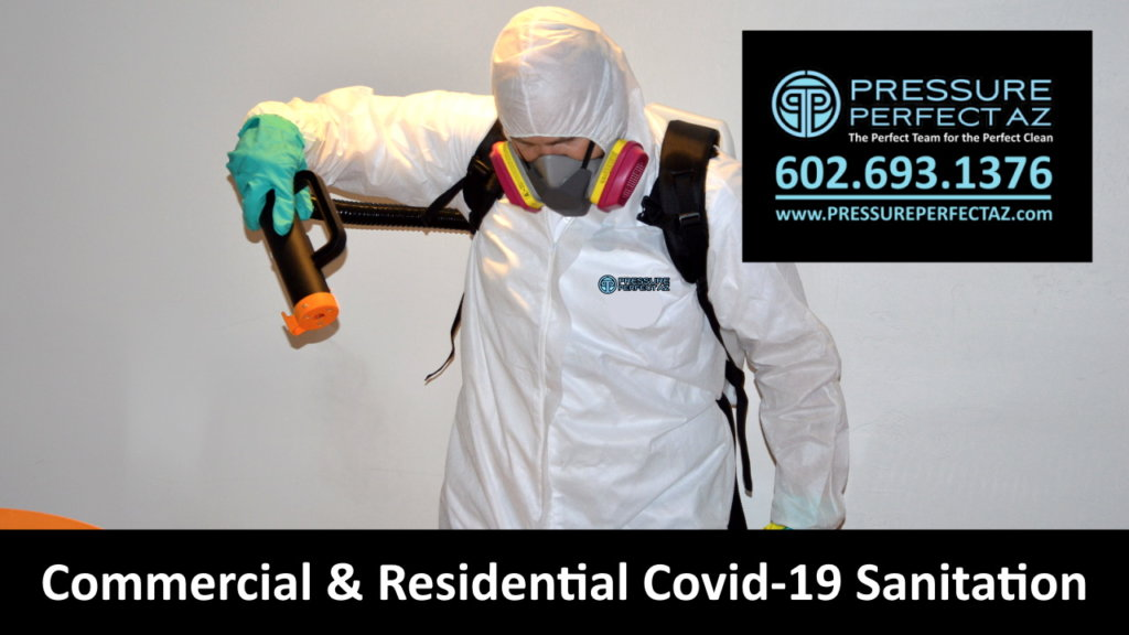 Coronavirus bacterial infectious biohazard or virus covid 19 sanitation and Disinfecting for homes and businesses in Phoenix Arizona