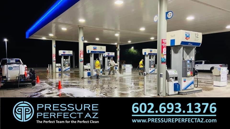 Jack rabbit Chevron Buckeye Arizona Parking Lot Sweep and Pressure Wash