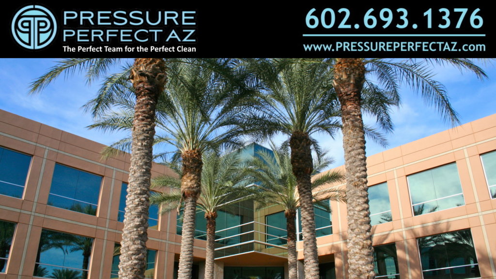 Phoenix Arizona Maricopa County Commercial Building Pressure Washing Cleaning and storm cleanup