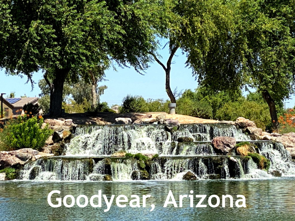 Goodyear Arizona Rio Paseo Park Waterfall 1280 960