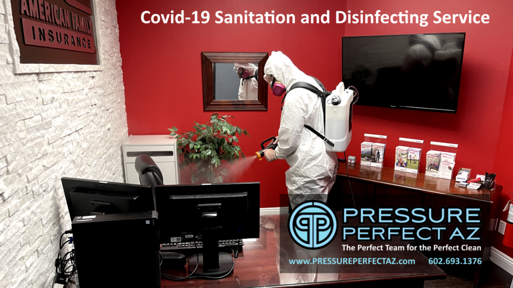 Phoenix Arizona Valley Covid 19 coronavirus Sanitation and disinfection Tempe Mesa Scottsdale Chandler Goodyear Glendale Peoria AZ